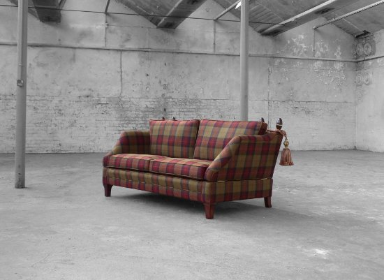 Aristocrat Drop Arm Sofa. Woodcliffe Upholstery Ltd.